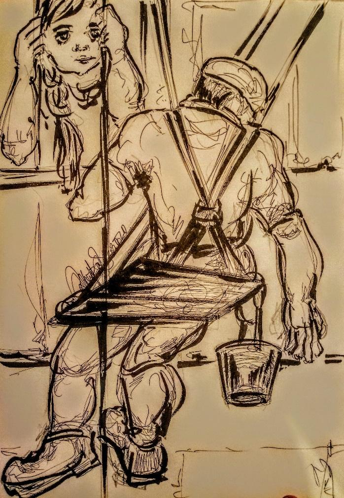 Dhrupadi Ghosh, Untitled, Ink on paper, 2019